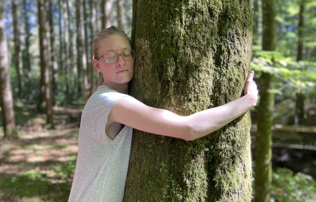 """Waldbaden Onlinekurs """"Zeit für dich Selbst"""" im Wald mit Katharina von achtsame Walderlebnisse"""